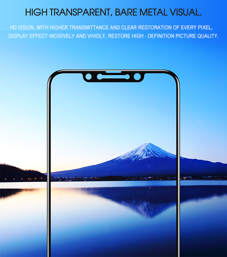 iPaky Screen Protector Glass With Frame 9H Tempered  Glass for iPhone Xs Xr Xs Max