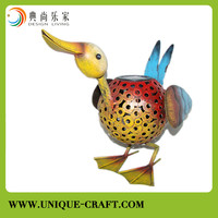 Unique design metal arts duck figure for garden decorations
