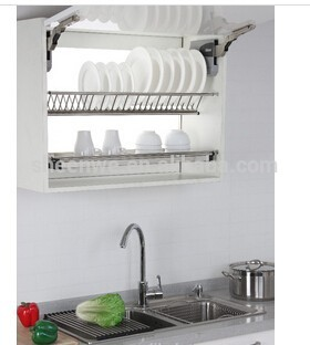 WDJ160 Guangzhou kitchen cabinet stainless steel plate rack with dish drainer tray  sc 1 st  Alibaba & Wdj160 Guangzhou Kitchen Cabinet Stainless Steel Plate Rack With ...