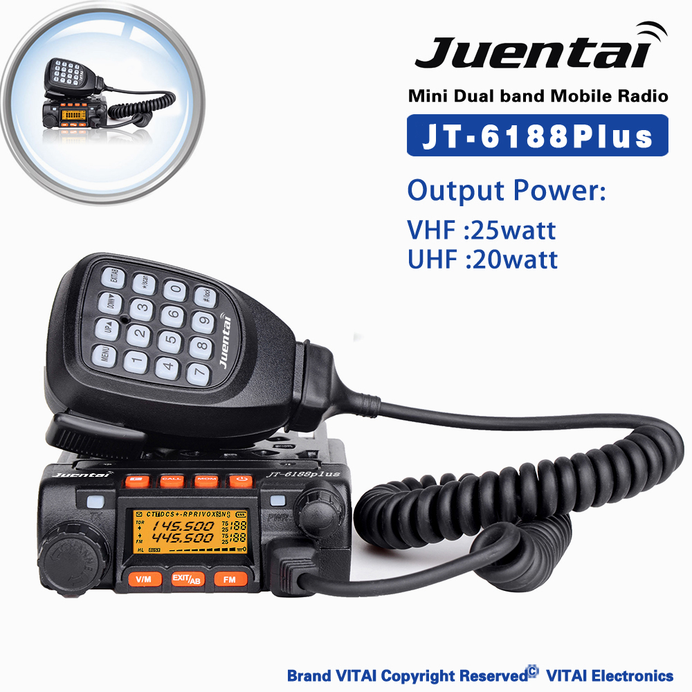 Juentai Jt-6188plus Remote Stun Remote Kill Computer Programming Fm  Transceiver 200 Channels Dual Band Mobile Radio - Buy Woki Toki,Fm