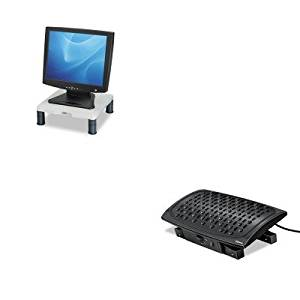 KITFEL8030901FEL91712 - Value Kit - Fellowes Climate Control Footrest (FEL8030901) and Fellowes Height-Adjust Standard Monitor Riser (FEL91712)