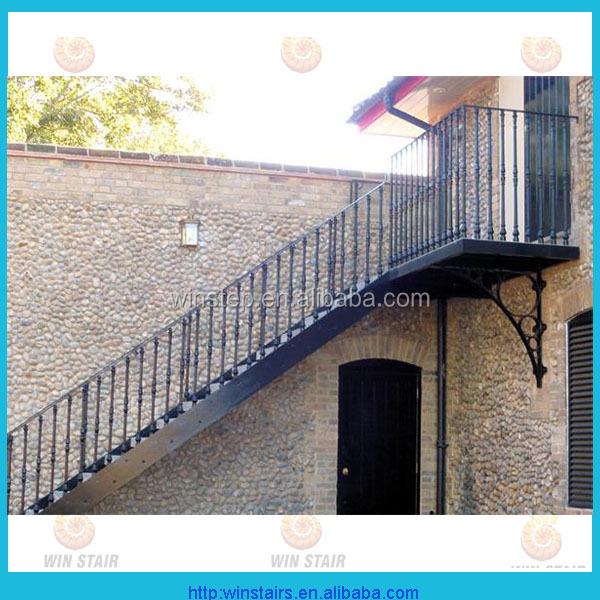 exterior escalera de metalhierro forjado escaleras escalera recta con plataforma