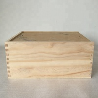 Natural Pine Wood A4 Size Wooden Book Box Case with Acrylic Lid