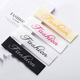 Personalized Design Custom Garment Trademark Name Logo Sew on Damask Woven Label for Clothes
