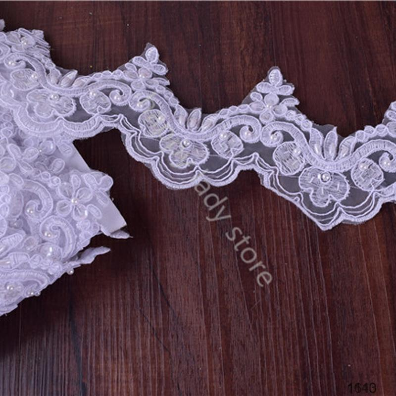 Fancy decorative beaded bulk lace trim