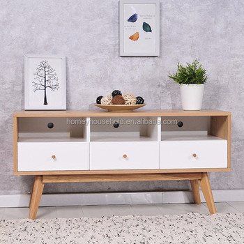 Wooden Television Cabinet French Country Nordic Home Tv Console Unit Drawers