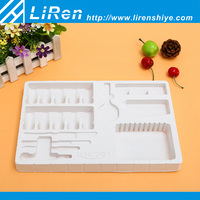 Customized White Square Plastic Cosmetic Packaging Tray Large