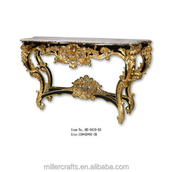 Black Marble Top Luxury Console Table
