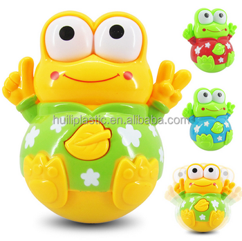 Custom Make Plastic Roly Poly Baby Toys With Sounds And Lights ...