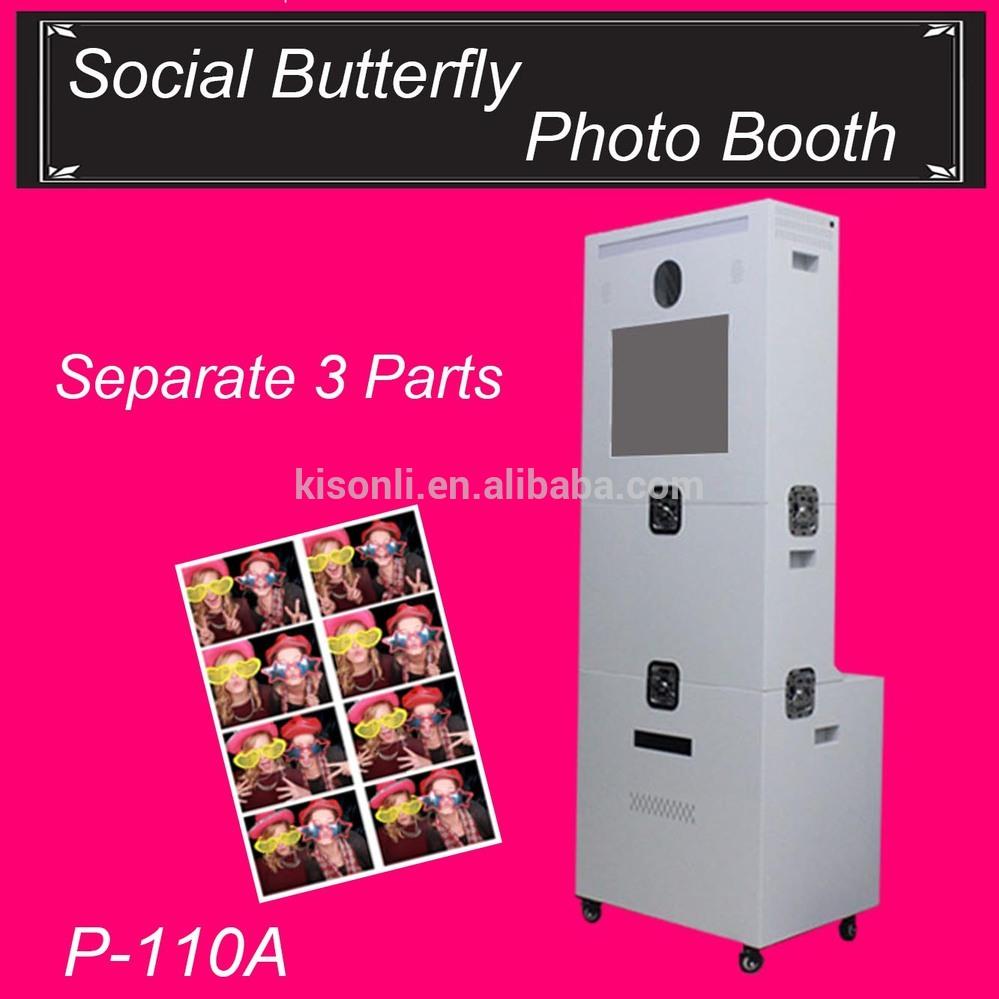 Portátiles boda Photo Booth máquina / Kiosk / Case para ventas ...