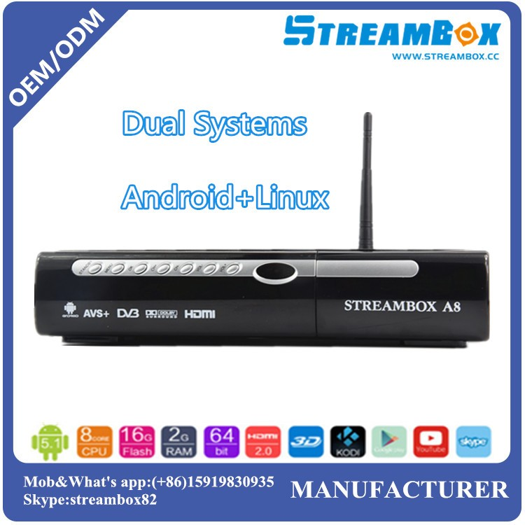 Hot Sale A8 S2 STB Hi3719 IPTV DVB-S2 Digital Android TV Box with Linux System