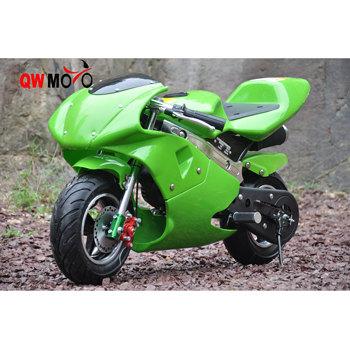 Qwmoto 49cc Pocket Bike Gas Powered Mini Moto Bike 49cc Kids Use
