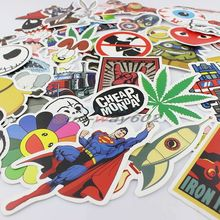 50pcs Car Styling Stickers for Skateboard Snowboard Vintage Sticker Laptop Luggage Car Bike Bicycle tablet pc phones Decals mix
