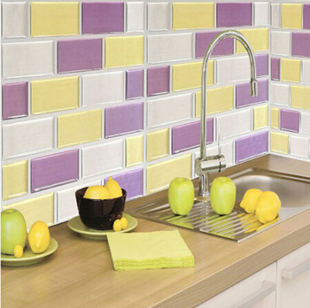 High Quality Removable 3d Vinyl Wall Tile Sticker for Bathroom Wall Decor