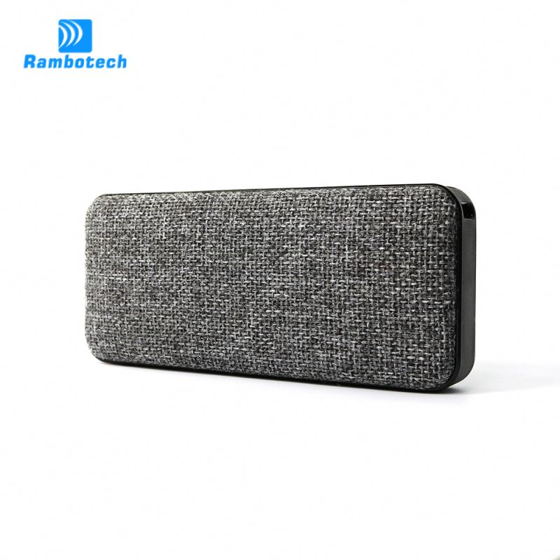 Portable outdoor waterproof bluetooth boombox new designed bluetooth speaker V4.0 with power bank and NFC function-RS600