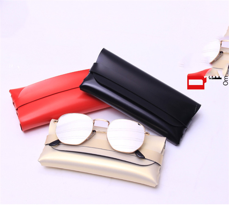 Dropshipping custom logo brand PU leather sunglasses case