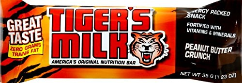 Tiger's Milk Peanut Butter Crunch Protein Nutrition Bar, 1.25 Ounce