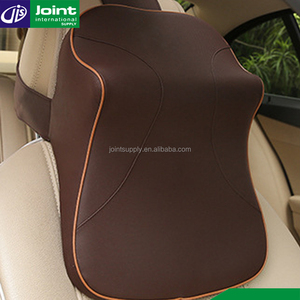 PVC Leather Travel Neck Pillow Comfortable Car Seat Head Neck Rest Pillow Crewel