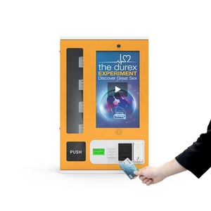 Automatic Sanitary Napkin Snack Drinks Cigarette Condom Touch Screen Vending Machine With Card Reader