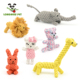 Puppy Cotton Animal Design Durable Dog Rope Chew Toy Pet Toys Set