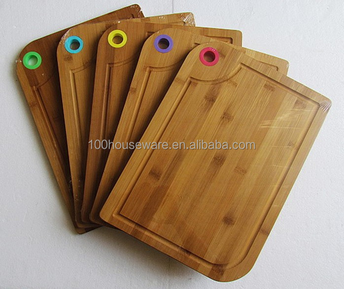 healthy silicone two tone bamboo cutting boards
