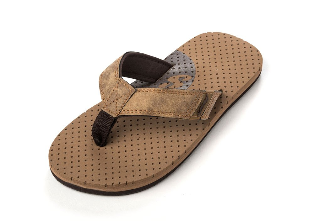2e4bfc49296b Get Quotations · Speed Boys Flip Flops Sandals Brown Camel by