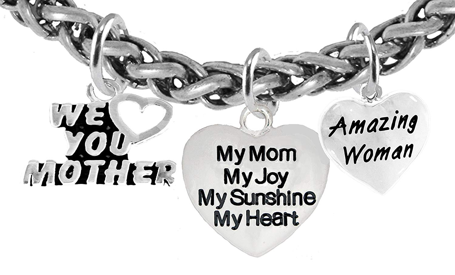 Cardinali Jewelry Mom,Worlds Greatest Mom.My Mom My Heart Safe-Nickel Free My Joy Hypoallergenic Bracelet Lead My Sunshine