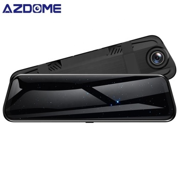 Newest Streaming Video Full HD 1080p Dashcam Camera Rear View Mirror Monitor Car Dvr