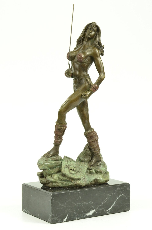 Sexy Valkyrie Norse Mythology Warrior Goddess Fantasy Art Viking Bronze Figurine