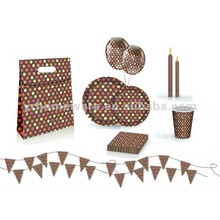 Dot paper party items party supplies set
