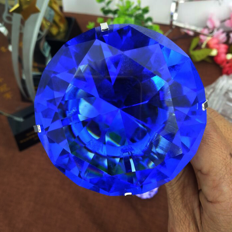 Hot Sale Crystal blue diamond for wedding gifts