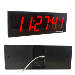 "4"" x 6 Digital Ethernet Clock, NTP Synchronized, Plastic Case"