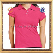 custom pink plain polo shirt for women