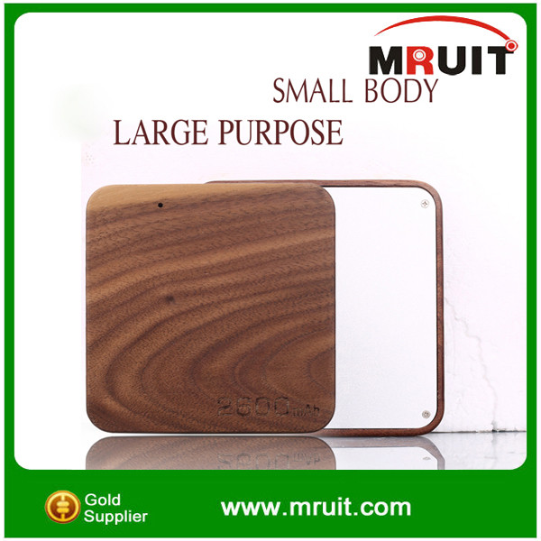 2600 mah gift-using wooden power bank for Cell phone,Tablet,PSP,GPS