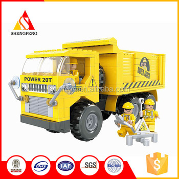 mobile command truck set china children toys new building blocks bricks