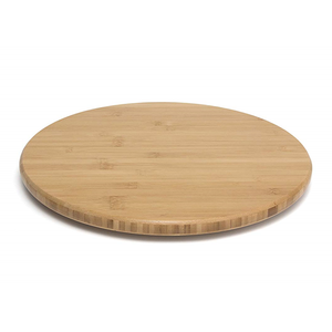 Modern Design Wholesale Portable Food Service Bamboo Round Serving Rotating Tray For Dining Table