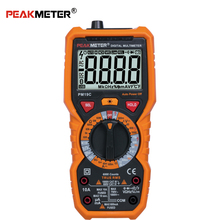 Hot sale Peakmeter LCD AC DC Digital Multimeter PM19C with True RMS NCV duty frequency capacitance resistance tester CE
