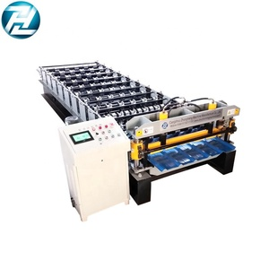 Elegant Glazed high rib steel deck roll forming machine for Europe market
