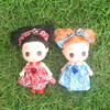 Cute colorful doll /high quality/plastic girl doll whole sale 12 cm