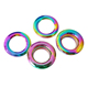 Rainbow 10 mm Hole Metal Push Snap Together Eyelet Snap Rings Grommets Eyelets