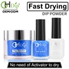 Factory Wholesale Price Blue Color Dip Powder 3 in 1 Nail Color match Gel Polish and Nail Lacquer