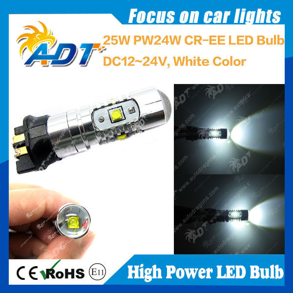 High Quality bright usa cr led PW24W 25W 500Lumen 12v-24v replacement brand auto partsing yellow white blue green
