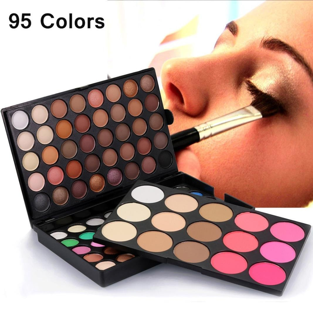 Amiley hot sale Cosmetic Matte Eyeshadow Cream Charms Makeup Palette Shimmer Set 95 Color gift (multicolor)