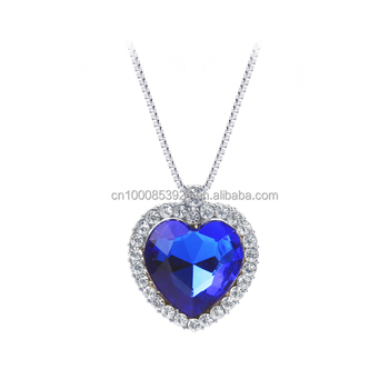 Blue crystals titanic heart of the ocean necklaces pendants for blue crystals titanic heart of the ocean necklaces pendants for women fashion jewelry aloadofball Image collections
