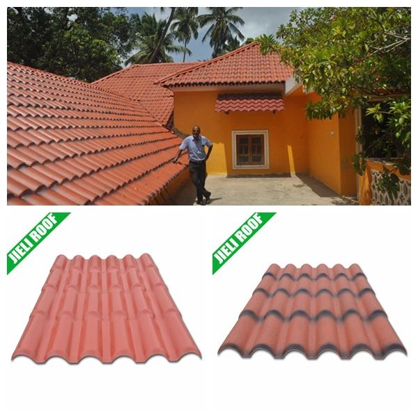 Light Weight Pvc Plastic Roof Tile For Residential House