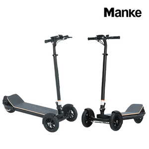 48v 450w rear drive dual disc brake with LCD screen 3 wheels hand carry skateboard
