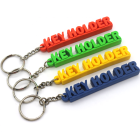 Factory Promotion rubber key chains key holder custom shape 2d or 3d soft pvc keychain