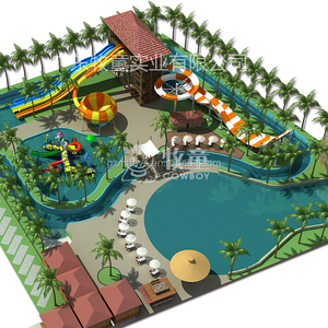 Big Water Park Design Fiberglass Water Slide For Sale