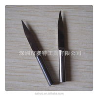 3.175*20*0.1mm(SHK*Degree* )Flat Bottom Engraving Bits Carving metal Standard Conical V-Bit 3.175mm Generic CNC Router Tool