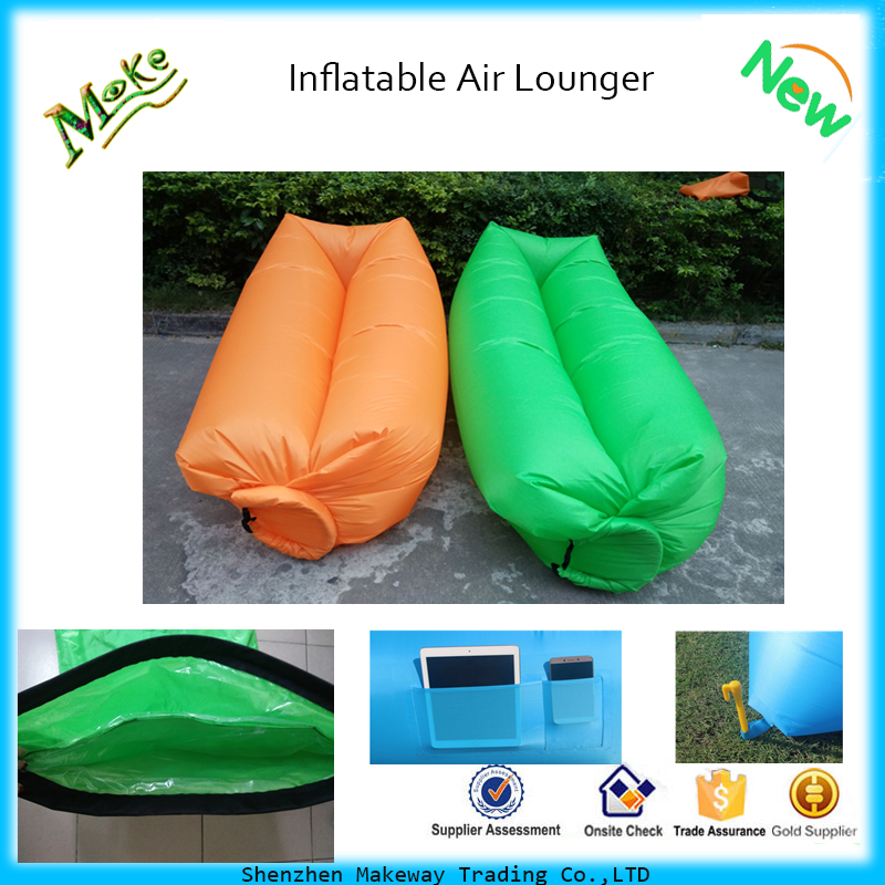 2017 Hot Sell inflatable lounger air sofa nylon lazy bag home furniture air sofa bed